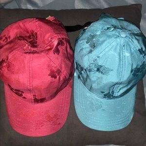 100% silk baseball caps set of 2